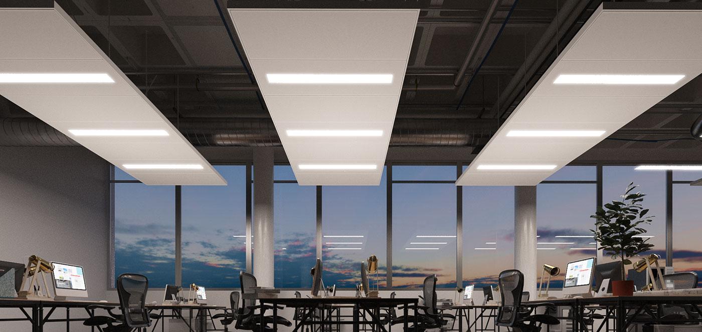 Tahokovové - Chladící a topné podhledy, osvědčené topné a chladící technologie, akusticky účinné topné a chladící stropy.