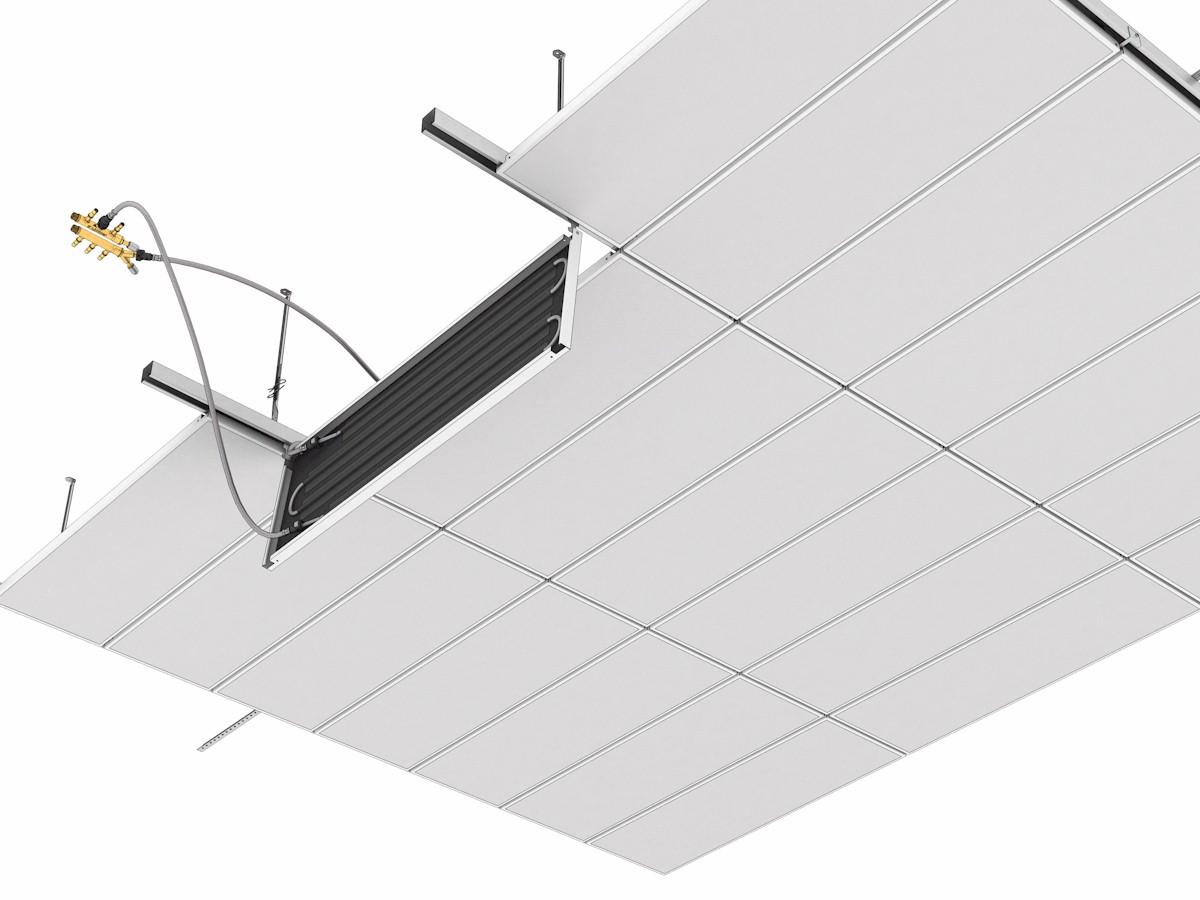 Topný a chladící podhled Plafotherm® E 213 - pohled zdola