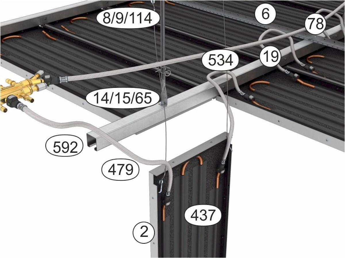 Topný a chladící podhled Plafotherm® St 213 - komponenty